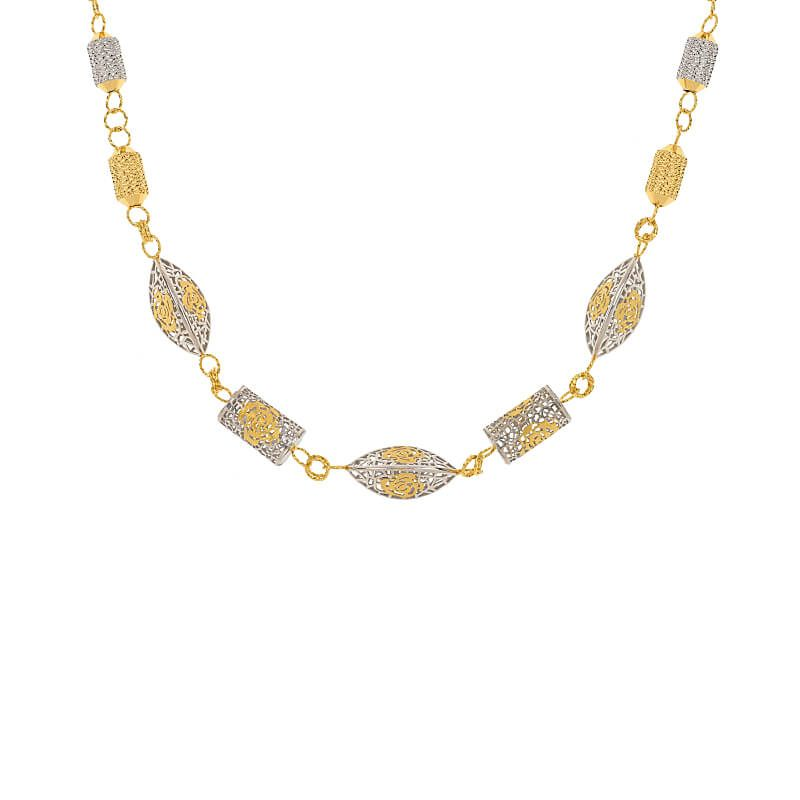 22k Gold Two-Tone Beads Chain