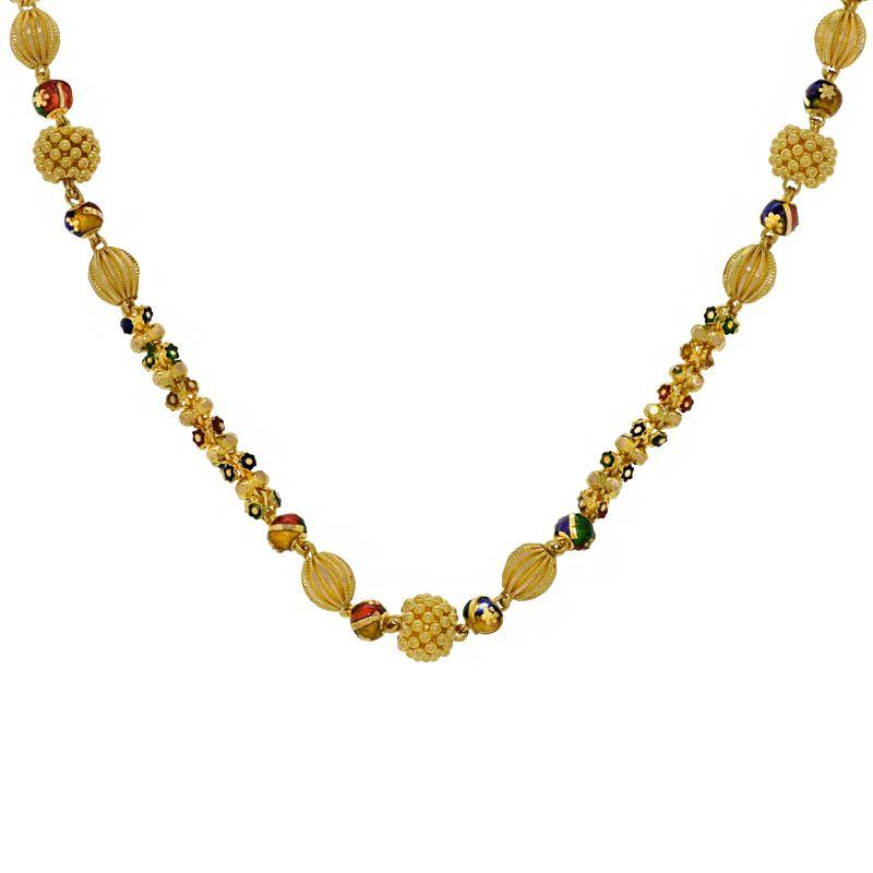 22k Gold Fancy Enamel Ball Chain