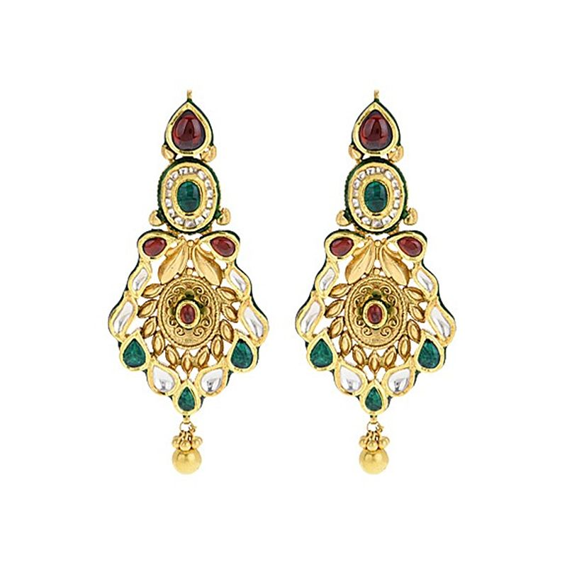 22k Gold Maharani Antique Gold Earrings