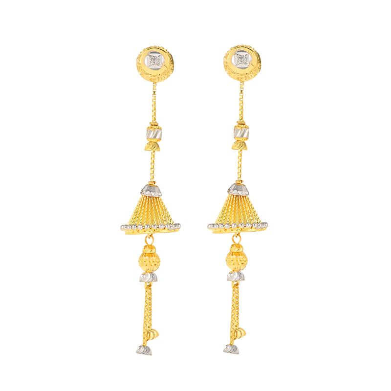 22k Gold Convertible Jhumki Drop Earrings
