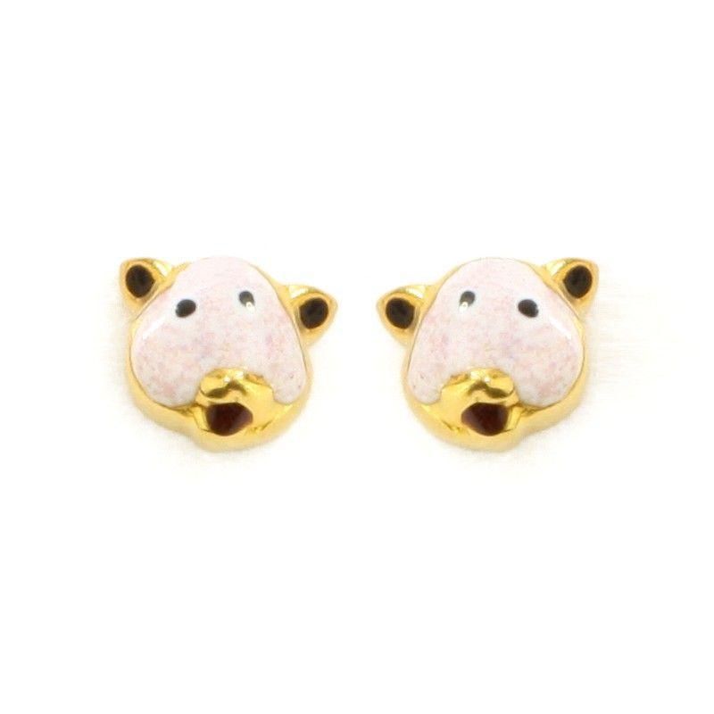 22k Gold Moo Earrings