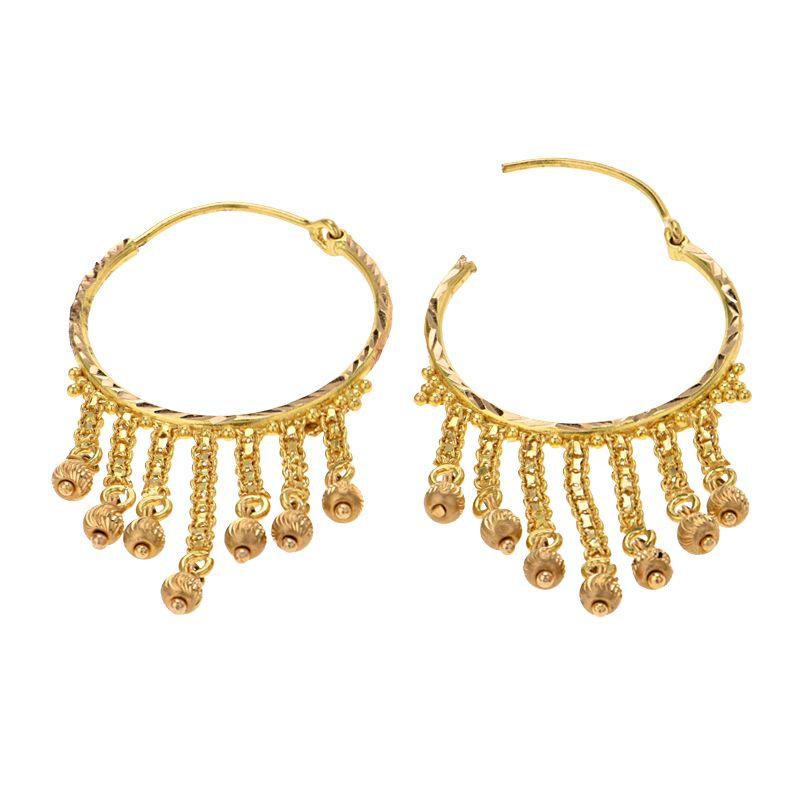 22k Gold Large Hoop Earrings