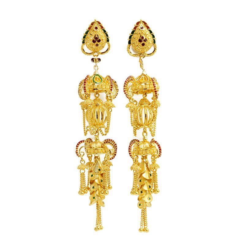 22k Gold Valencia Gold Earrings