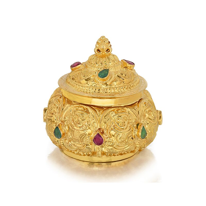22k Gold AshtaLakshmi KumKum Box