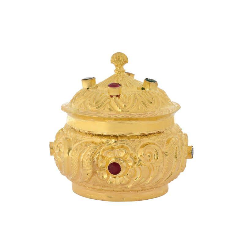 22k Gold Festive KumKum Box