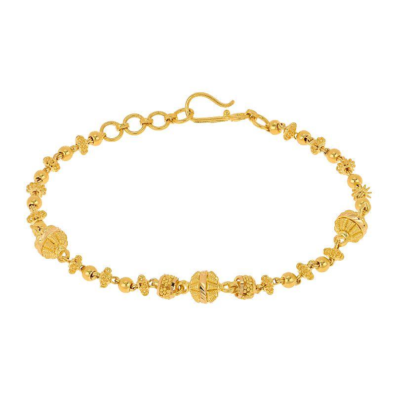 22k Gold Boho Beaded Gold Bracelet