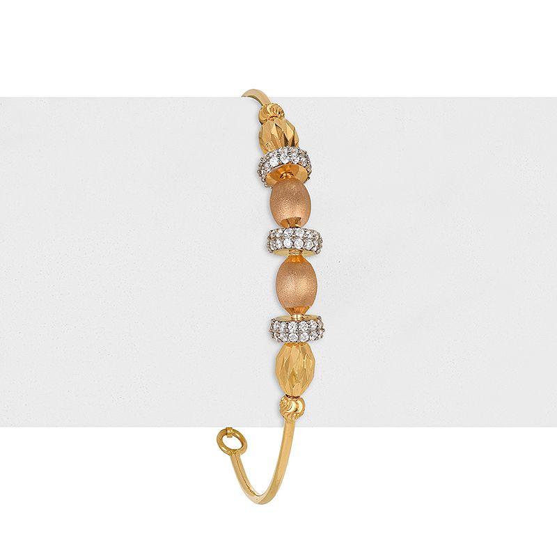 22k Gold 2-Tone Beaded Bracelet