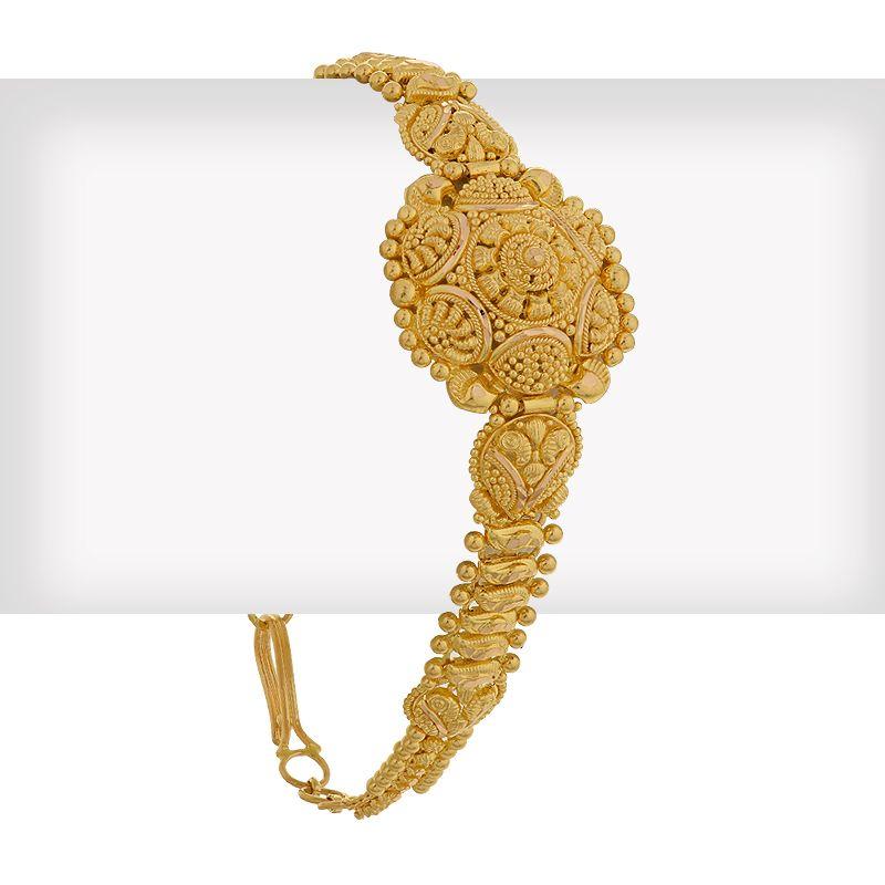 22k Gold Traditional Indian Design Bracelet