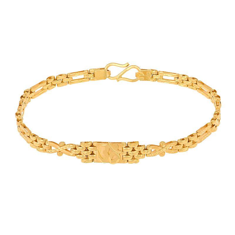 22k Gold Om Link Gold Bracelet