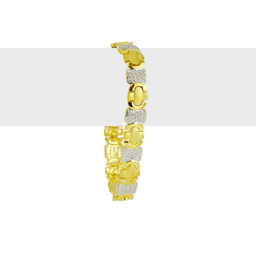 22k Gold Cross Style Gold Men's Bracelet