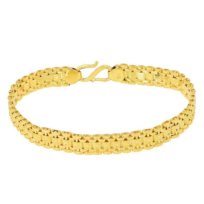 22k Gold Reversible Fancy Links Bracelet