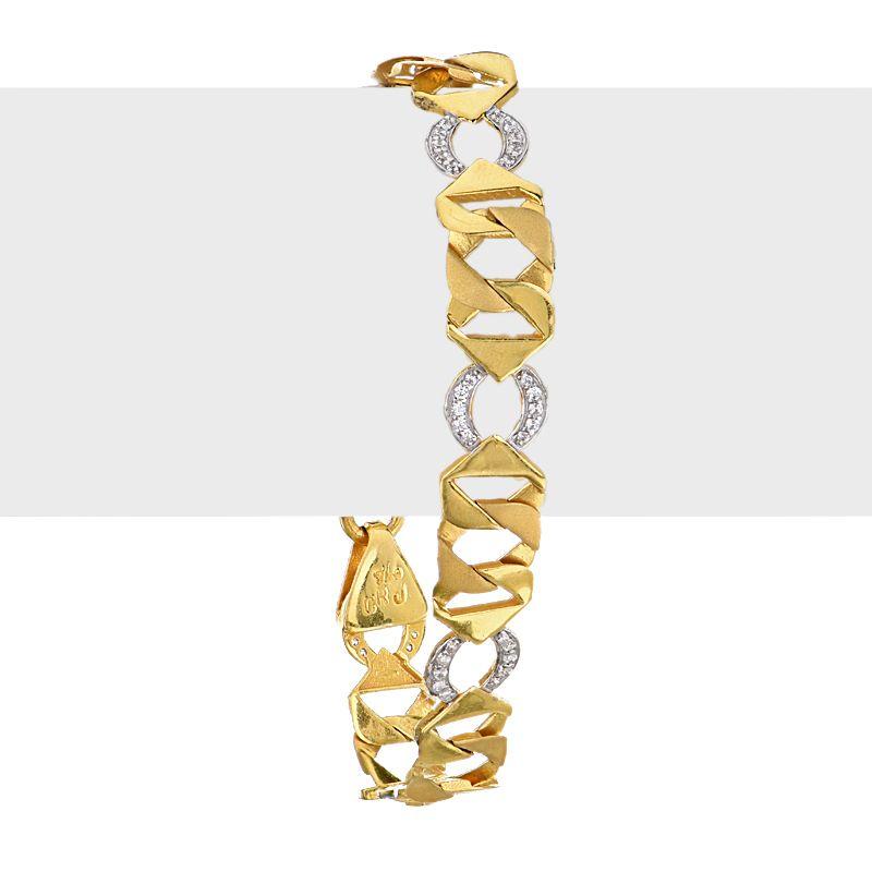 22k Gold CZ Links Gold Bracelet