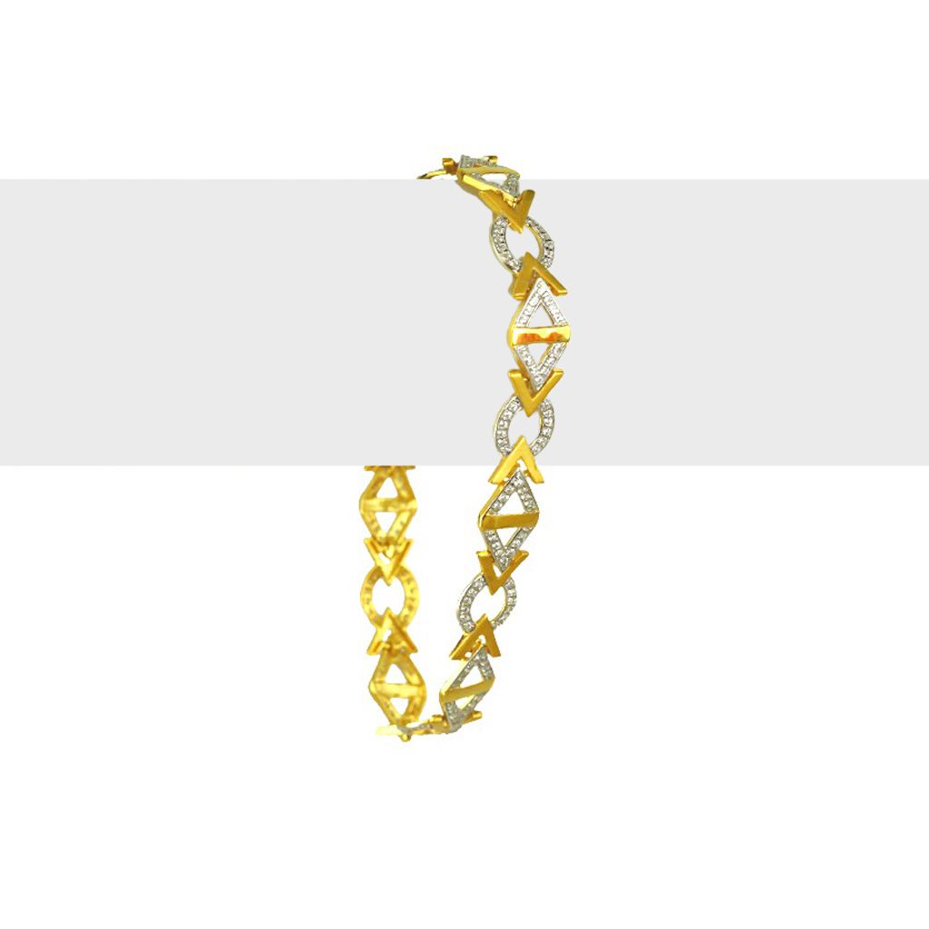 22k Gold Gold Arrow Head Men's Bracelet