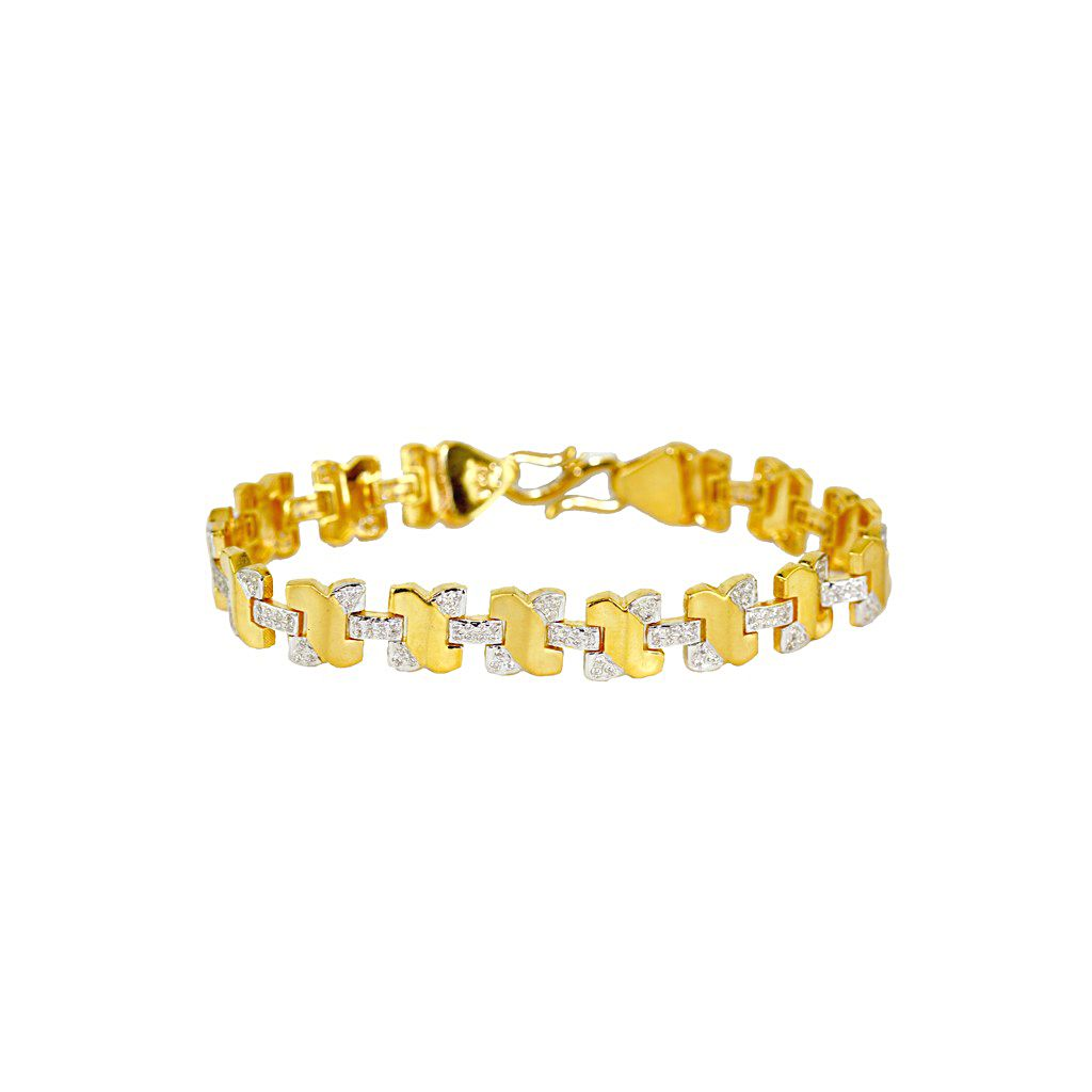 22k Gold Men's Wanderer Gold Bracelet