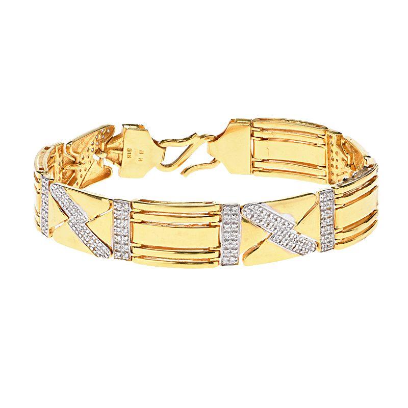 22k Gold Zigzag Trance Gold Bracelet