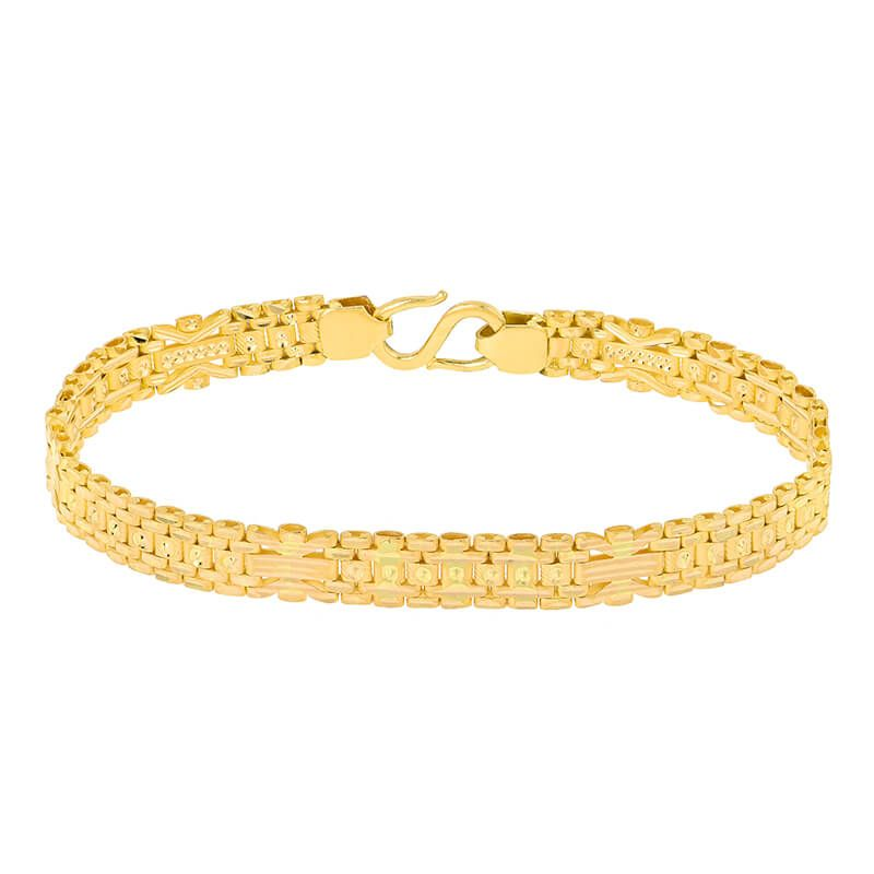 22k Gold Fancy Links Reversible Bracelet