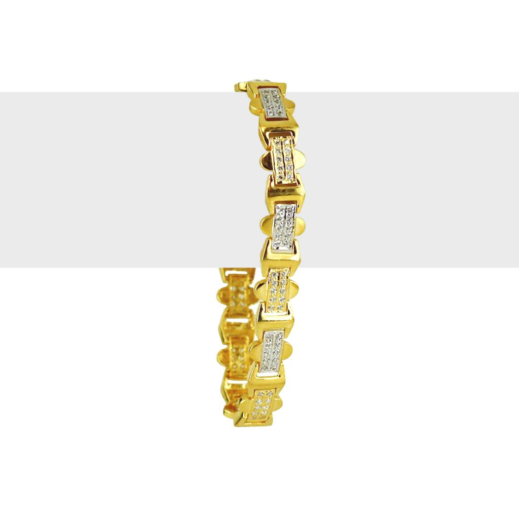 22k Gold Men's Tropical Gold Bracelet