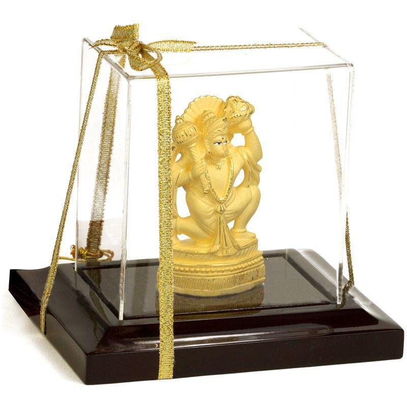 24k Gold Hanuman God Statue