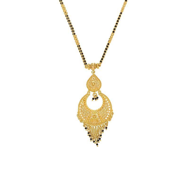 22k Gold Chand Bali Filigree Mangalsutra