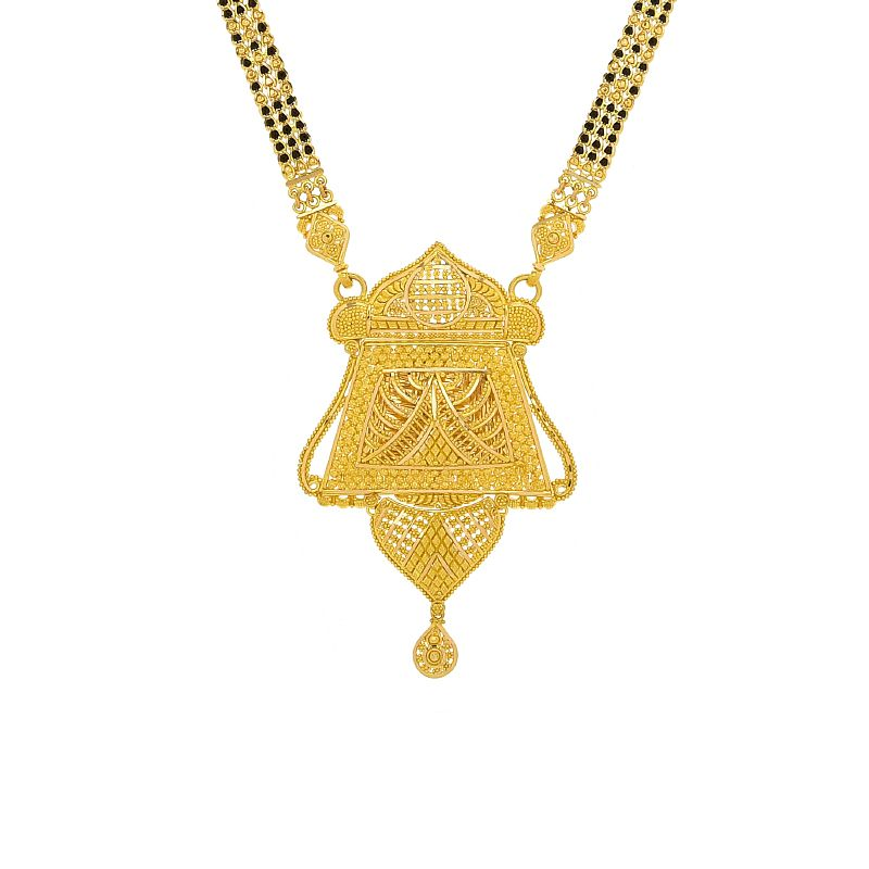 22k Gold Manhaar Filigree Mangalsutra