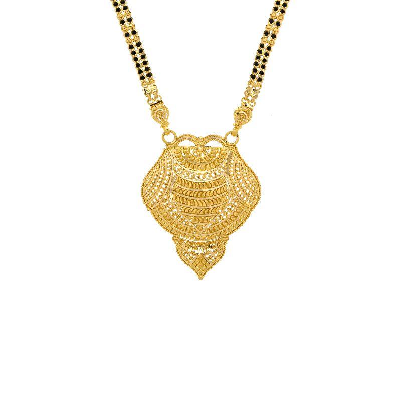 22k Gold Long Filigree Motif Mangalsutra