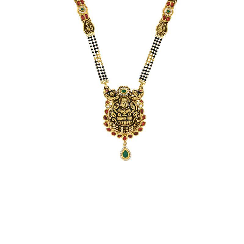 22k Gold Antique Lakshmi Mangalsutra
