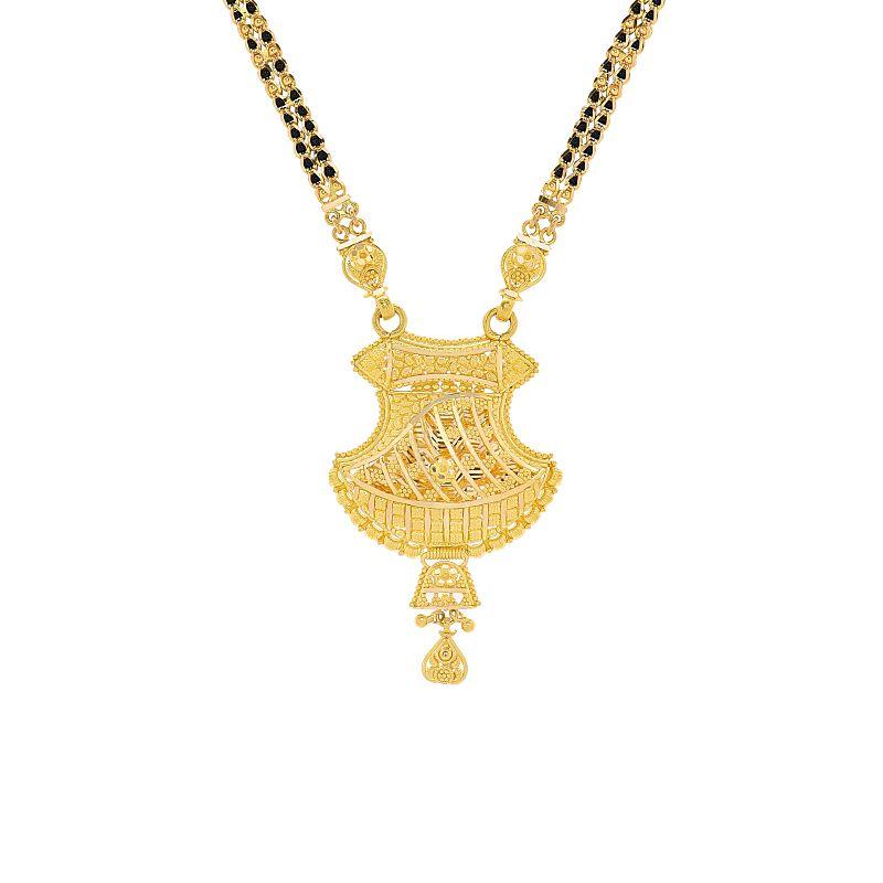 22k Gold Filigree Design Traditional Mangalsutra