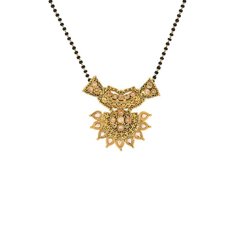 22k Gold Polki Designer Gold Mangalsutra