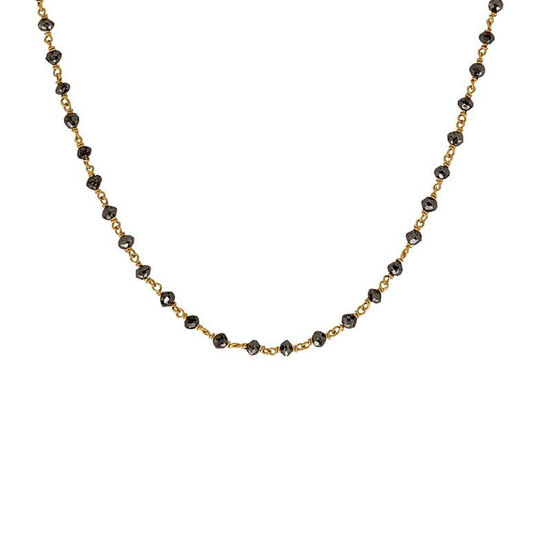 22k Gold Black Diamonds Mangalsutra Chain