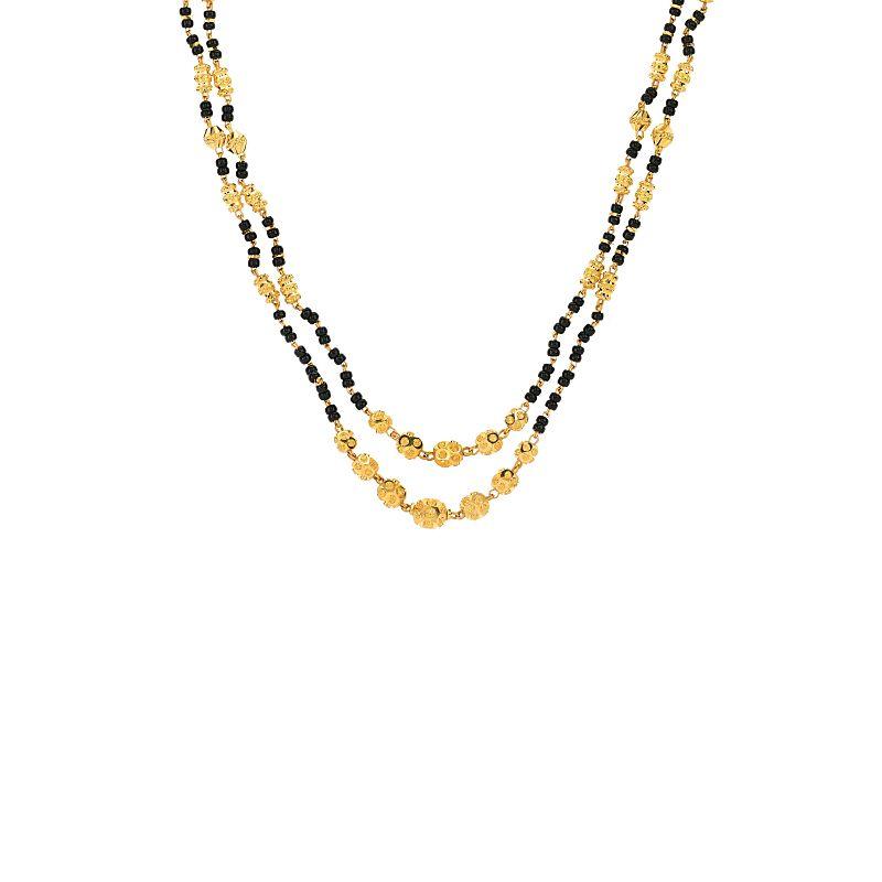22k Gold Short Layered Beaded Mangalsutra