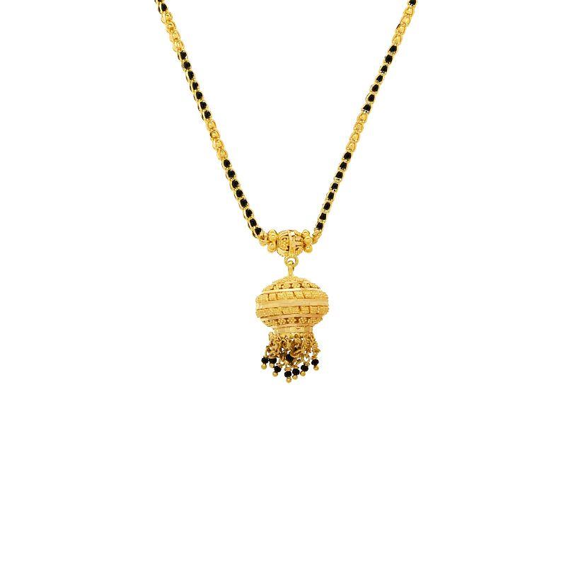 22k Gold Dainty Filigree Pendant Mangalsutra