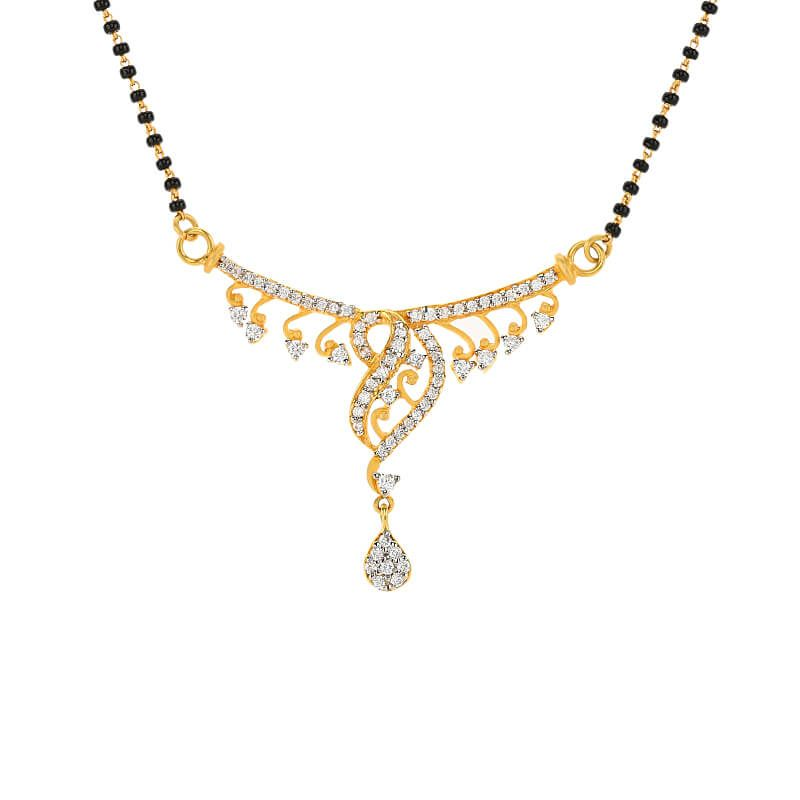 18k Gold Designer Cz Gold Mangalsutra