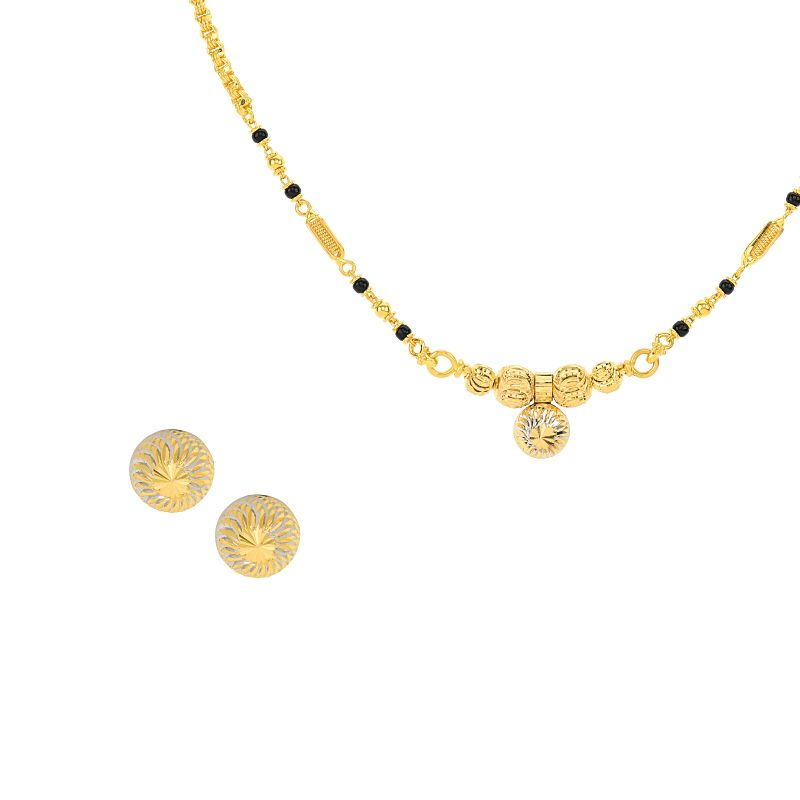 22k Gold Two Tone Mangalsutra