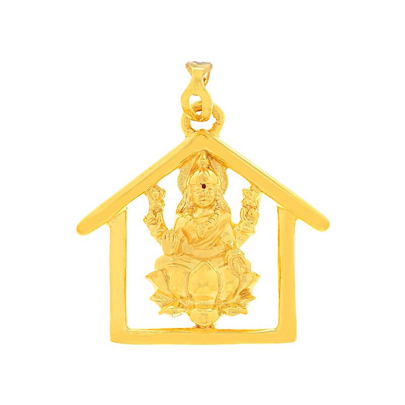 22k Gold Lakshmi Gold Pendant