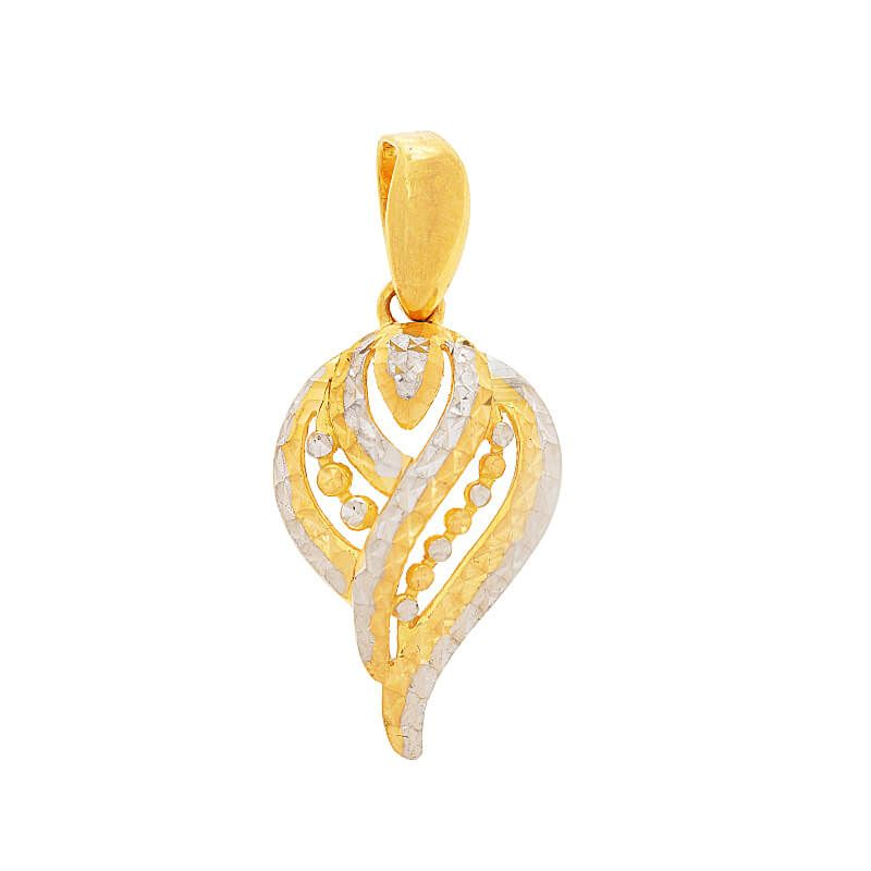 22k Gold Two-Tone Spiral Pendant