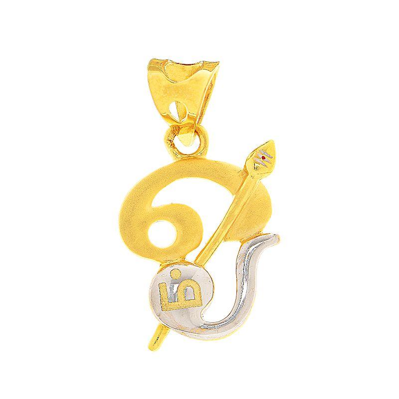 22k Gold Muruga Om Gold Pendant