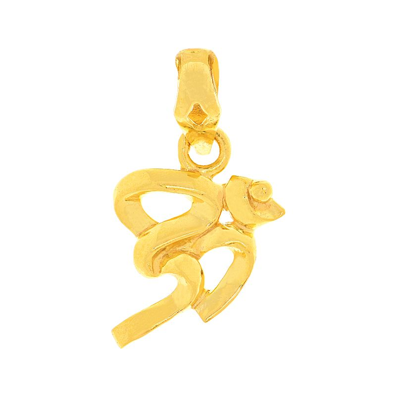 22k Gold Gold Om Symbol Pendant