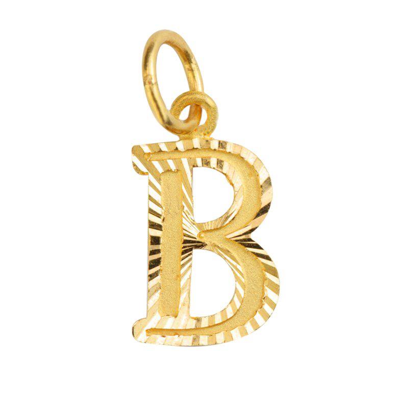 22k Gold Intial B Gold pendant