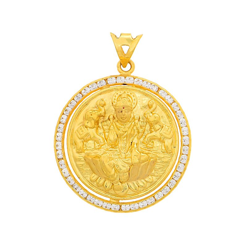 22k Gold Reversible Lakshmi Gold Pendant