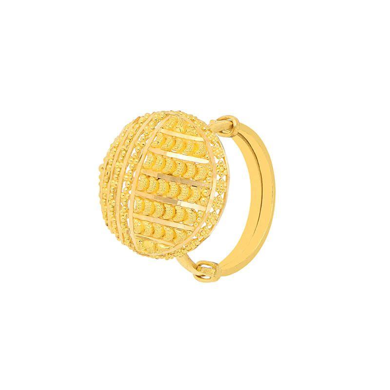 22k Gold Round Motif Gold Ring