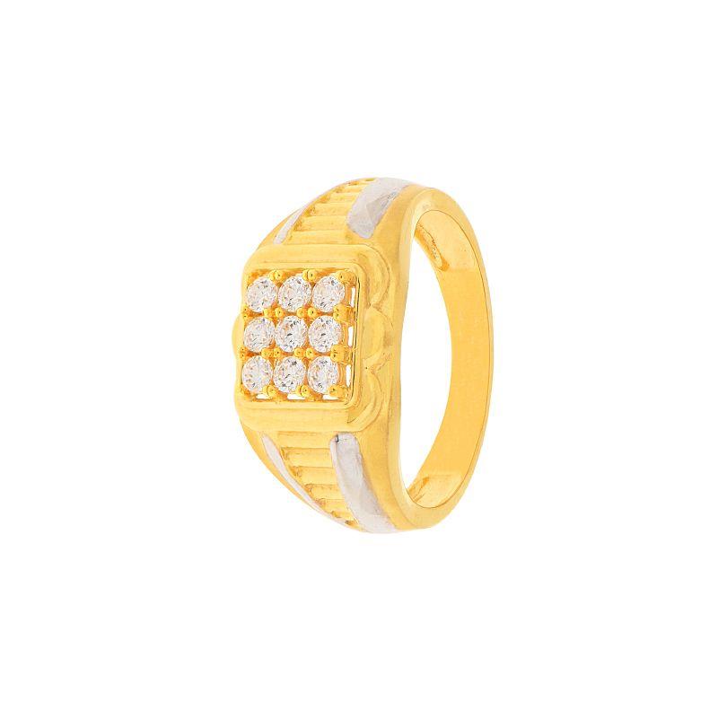 22k Gold CZ Gold Cluster Ring