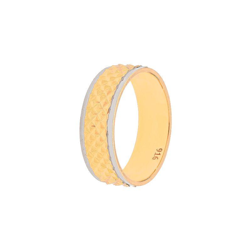 22k Gold Fish Scales Wedding Band - 10.5