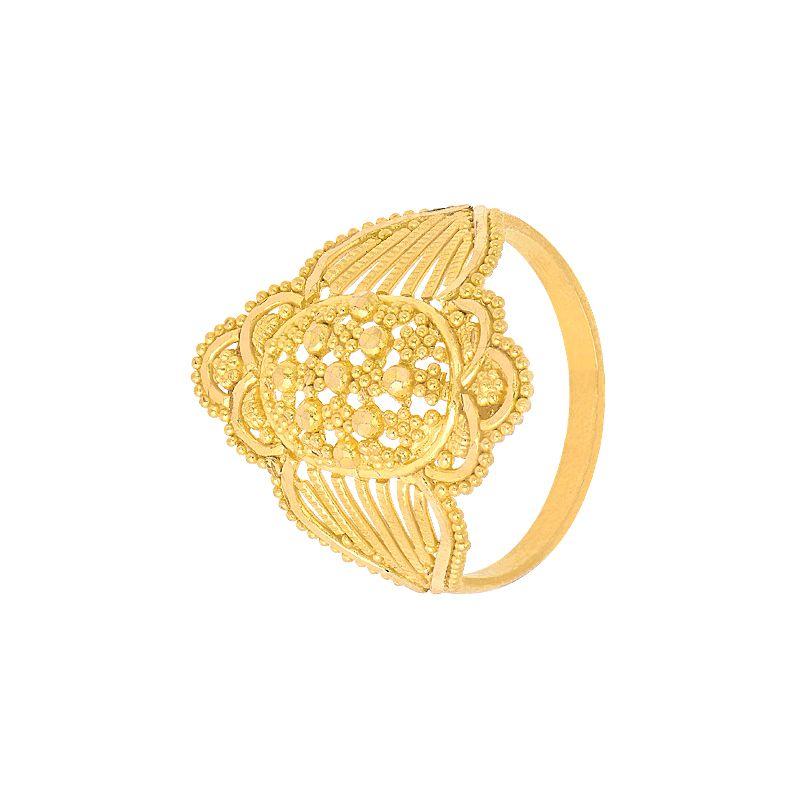 22k Gold Unique Filigree Gold Ring