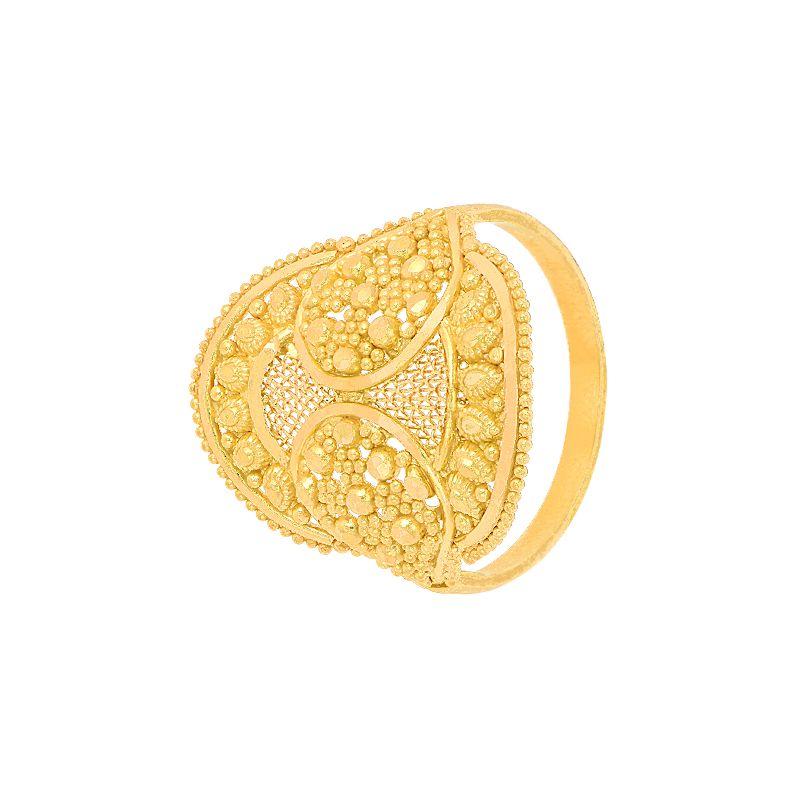 22k Gold Fancy Mesh Gold Ring