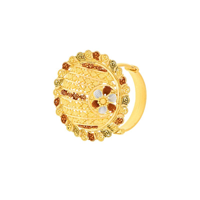 22k Gold Filigree Cocktail Gold Ring