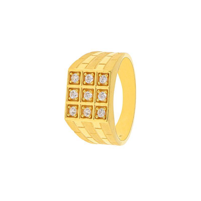 22k Gold 9 Stones CZ Ring
