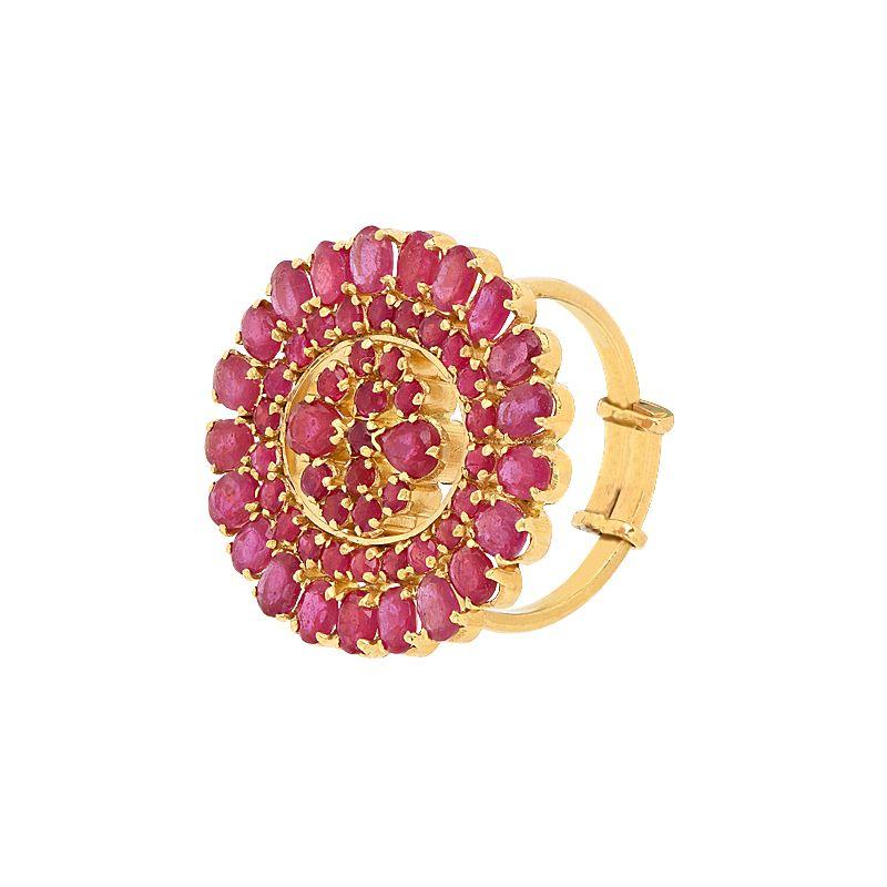 22k Gold Ruby Statement Ring