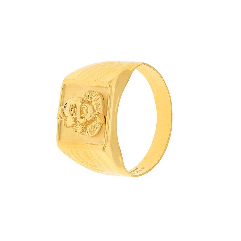 22k Gold Ganesha Gold Ring