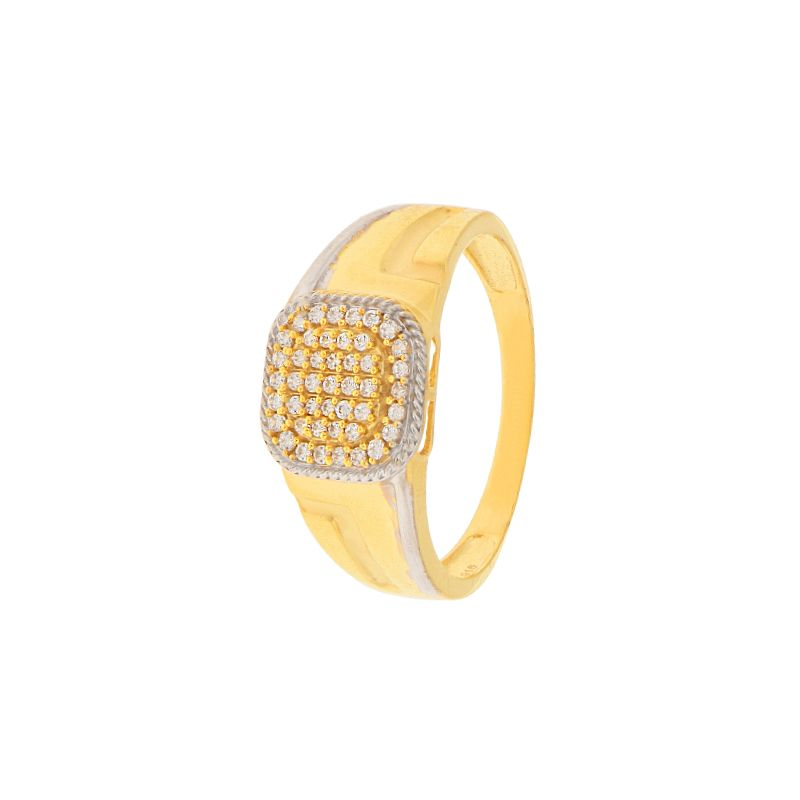 22k Gold Maze Cz Gold Ring