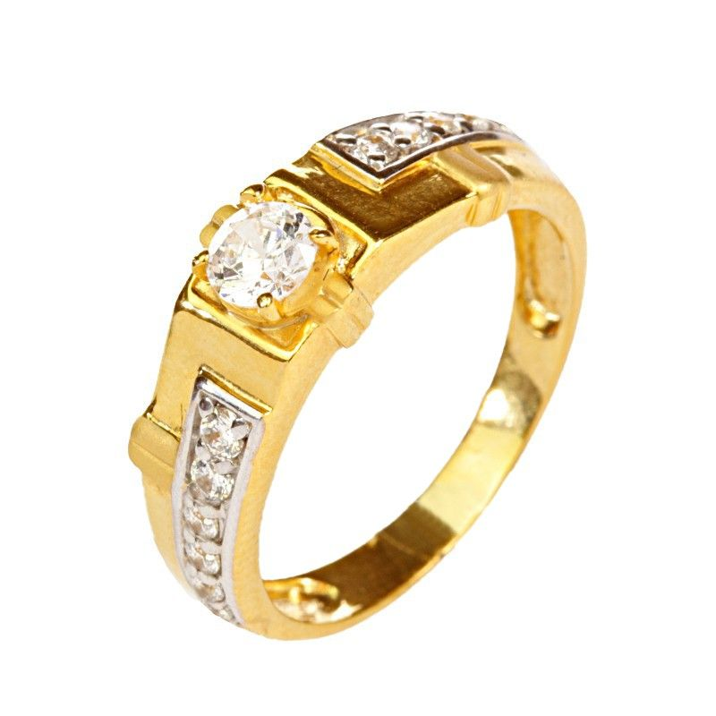 22k Gold Cubic Cluster Ring